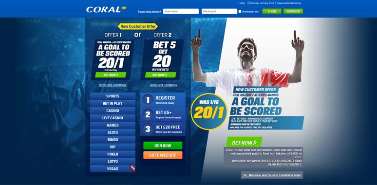 Coral sports betting sports bets online vegas